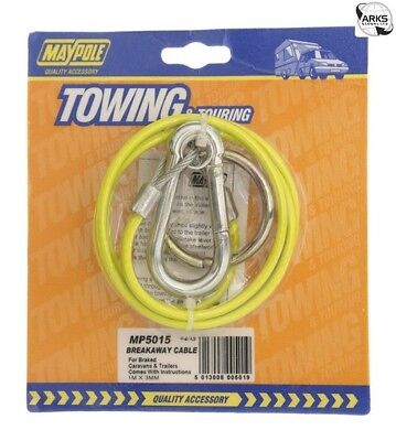 MAYPOLE Breakaway Cable - Plastic Coated - Yellow - 5015A