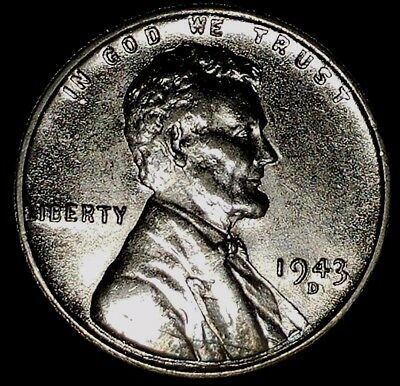 "1943-D  1C Lincoln Wheat Cent, 17rr0909 ""UNC""  ""Only 50 Cents for Shipping"""