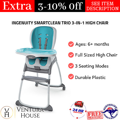 New Aqua 3-in-1 Feeding Chair For Baby High Chair Toddler Seat Kids Booster Seat