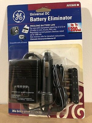 GE Universal DC Battery Eliminator Up to 1200mA