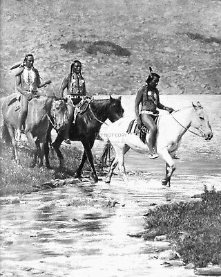 Blackfeet Indians At Ptarmigan Lake By Roland Reed  8X10 Historic Photo (Rt675)