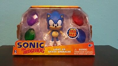 Jazwares Classic Sonic The Hedgehog Figure With Light Up Chaos Emeralds 20 50 Picclick