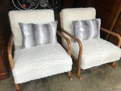 Fabulous Beautiful Pair 2018 Ee Mid Century Modern Walnut Rocker Caraccident5 Cool Chair Designs And Ideas Caraccident5Info