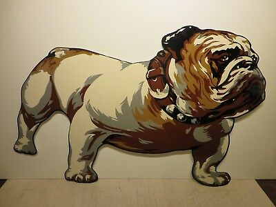 27x43 New Repro. Vintage Mack Truck Bulldog Porcelain Gas & Oil Adv. Sign