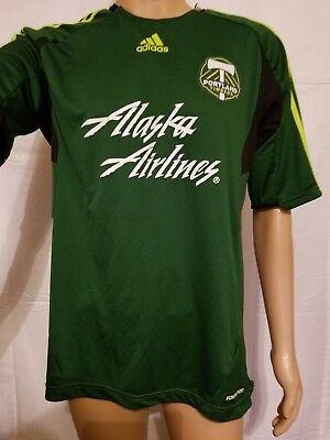 41d60bb6c34 Portland Timbers Army Green Jersey Womens Size Large Adidas MLS Soccer  Climacool