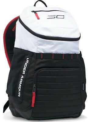a38deede93 Under Armour SC30 Undeniable Backpack White Black Red UA 1294712 100 New