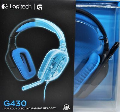 b526a40cf70 LOGITECH G430 SURROUND Sound Gaming Casque,7.1 Pc/PS4 - New & Ovp ...