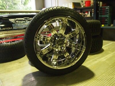 Golf Cart Car Buggy 14 Inch Custom Wheels & Tyres With Nuts & Ss Caps
