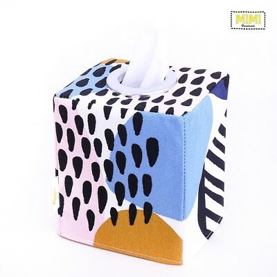 Modern Handmade Tissue Box Cover Kids Nursery Bathroom GEOMETRIC POP COLOUR
