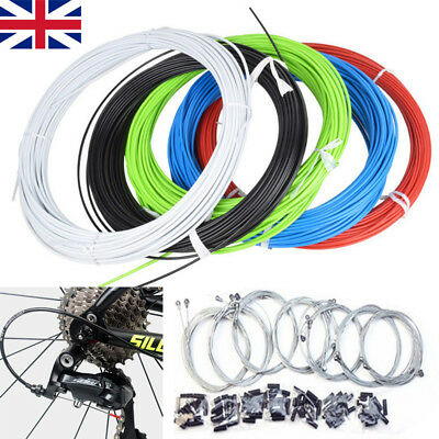 MTB Mountain Bike Bicycle Front & Rear Inner Outer Wire Gear Brake Cable Set UK