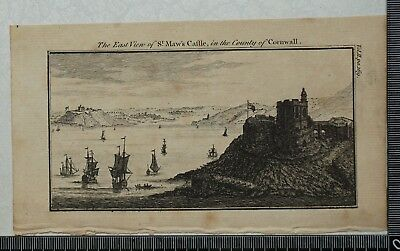 1769 - Engraving of the East View of St. Maw's Castle, Cornwall