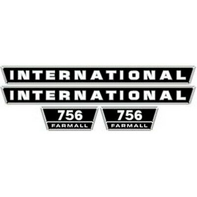 New 756 International Harvester Farmall Tractor Hood Decal Kit Quality Vinyl