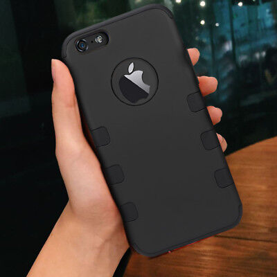 Rugged Armor Cover Shockproof Rubber Case for Apple iPhone 7 / iPhone 8 Plus
