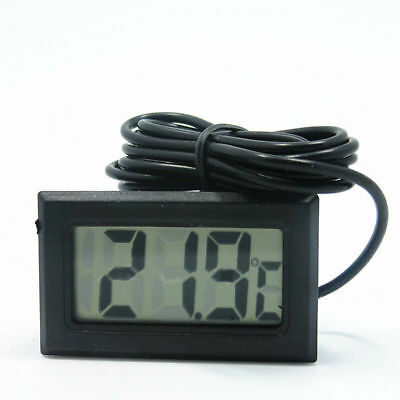 Uk Lcd Digital Fish Reptile Aquarium Tank Water Thermometer Temperature