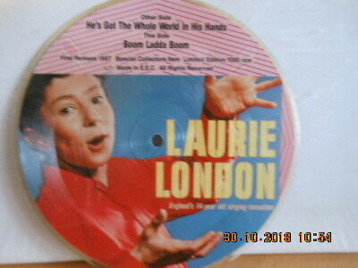 """7"""" LAURIE LONDON - He´s Got The Whole World In His Hands / PICTURE DISC Limited"""