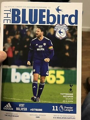Cardiff City v Tottenham Hotspur Programme -1st January 2019-Mint