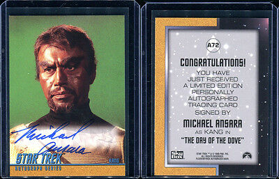 1999 Skybox Star Trek Original TOS Season 3 A72 Michael Ansara Autograph Card (2