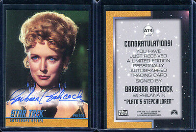 1999 Skybox Star Trek Original TOS Season 3 A74 Barbara Babcock Autograph Card 1