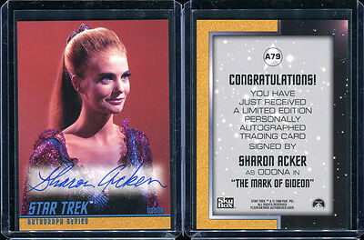 1999 Skybox Star Trek Original TOS Season 3 A79 Sharon Acker Autograph Card 1