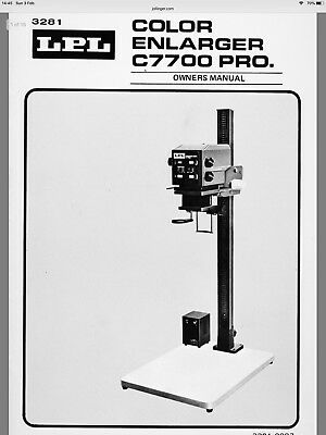 LPL C7700 Colour Enlarger Read Description Nikkor Nikon Lens