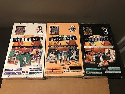Lot of (3) 1994 Topps Stadium Club Series 1, 2 & 3 Factory Sealed Baseball Boxes