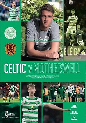 PRE-ORDER Celtic v Motherwell 2018/19 brand new football programme