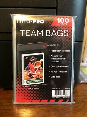 200 Ultra Pro Team Bags Sleeves 2 Packs of 100 for Team Sets or Toploaders