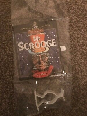Robinsons Mr Scrooge Beer Pump Clip Breweriana Brand New Free Fast P+P