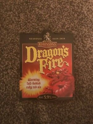 Robinsons Dragon's Fire Beer Pump Clip Breweriana Brand New Free Fast P+P