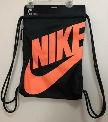 4750c549d3 Nike Heritage Gymsnack Dk-Grey peach Drawstring Bag Backpack Gymsack Ba5351  060