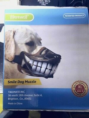 Dog Smile Muzzle Werewolf Funny Teeth Size XL - 6 - Same Day Dispatch Fast Deliv