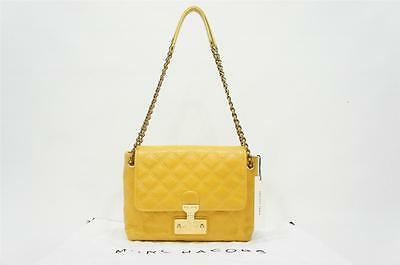 9882f4b81a4b MARC JACOBS BAROQUE LARGE SINGLE YELLOW LEATHER SHOULDER BAG  895 NWT Sold  Out