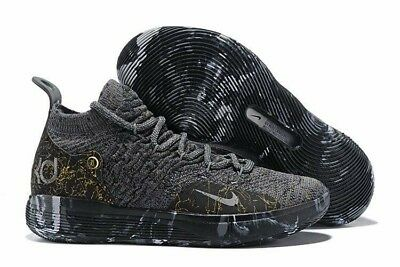 dffd9e12ed8d Mens Winter Basketball Shoes Nike Zoom KD 11 EP Black gray   gold splash