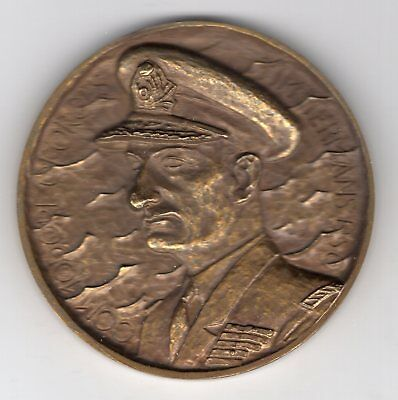 1944 Belgium Medal to Honor Commodore Georges Timmermans, Juno Beach