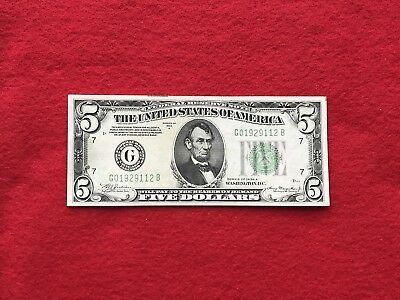 FR-1957G  1934 A Series $5 Chicago Federal Reserve Note *Extremely Fine*