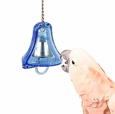 Double Ringer Parrot Bell - Large - The Toughest Bell Around - Steel
