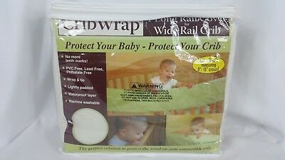 Crib Wrap Long Rail Cover Baby Bedding Fleece Protects Wood Guard Trend Lab