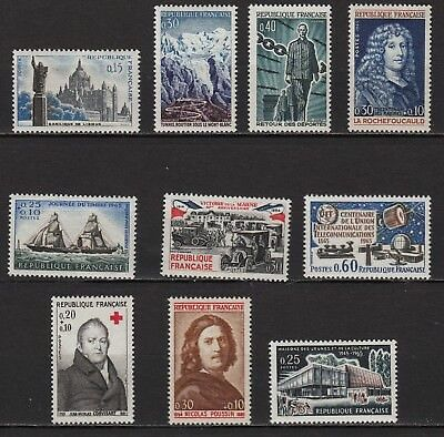 Ag171** Lot x10 Timbres /Neuf**MNH TBE (entre 1960 et 1965)