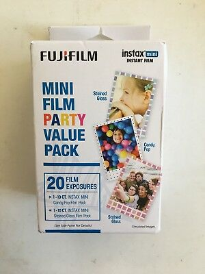 Fujifilm Instax Mini Film Party Value Pack 20 Exposures Stained Glass ~FRESH