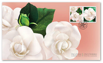 2019 Canada Gardenia First Day Cover Of 2 Stamps Permanent Flowers