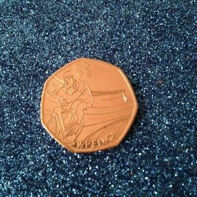 2011 Olympic 50P Coin Cycling