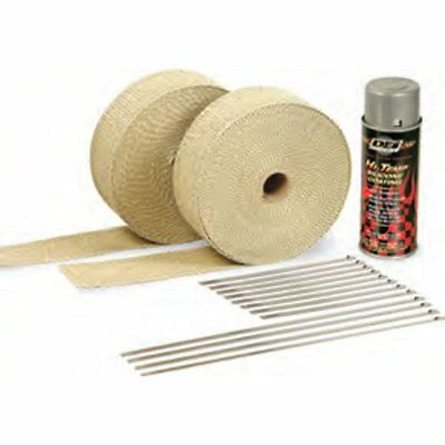 DEI 010091 Exhaust / Header Wrap Kit Tan Wrap w/ White HT Silicone Coating