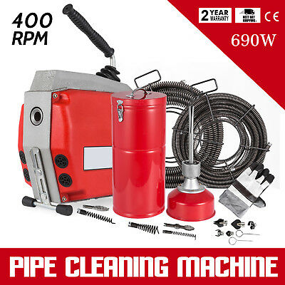 690W Drain Pipe Cleaning Machine SHOWERS COMMERCIAL 10MM STRONG PACKING