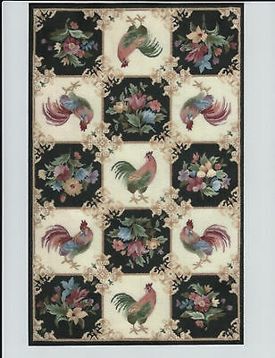 """1:12 Scale Dollhouse Area Rug 0001140 - approximately 6 3/4"""" x 10 1/2"""""""