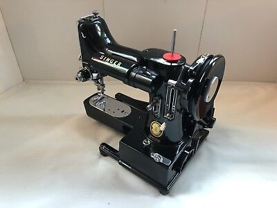Vintage Singer 222k Freearm Featherweight Sewing Machine