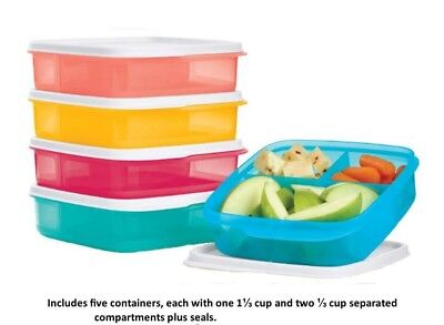 Tupperware Lunch It Divided Containers Zero Waste Collection Set of 5