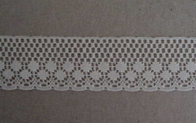 CRAFT-SEWING-LACE 10mtrs x 30mm Flat Synthetic Lace