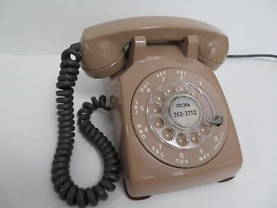 Antique Western Electric Rose Beige telephone Model 500 1955 Soft Plastic