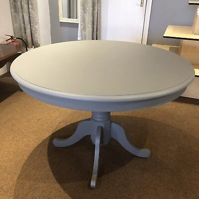 Solid Pine Round Pedestal Table Up cycled Painted Frenchic