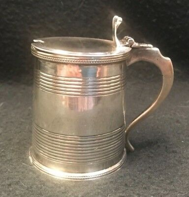 Antique Sterling Silver Mustard Pot With Glass Liner - 2.83 Troy Ounces
